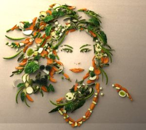 woman-vegetable-art